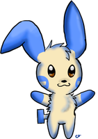 #312 Minun by CloudFoxie