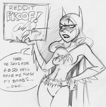reddit proof Batgirl by andypriceart