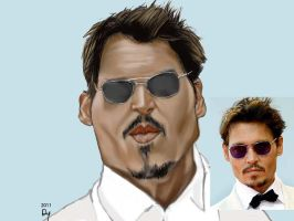 Johnny Depp Caricature by danb13