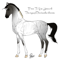 Blue Roan Paint Adoptable - 15 Points by RedTrinitysAdopts