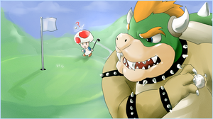 Golfing With Bowser by PinkPuffKirby