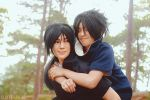 Itachi and Sasuke by behindinfinity