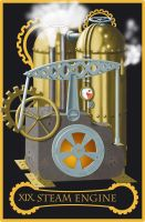 Steampunk tarot of the Sun by flamarahalvorsen