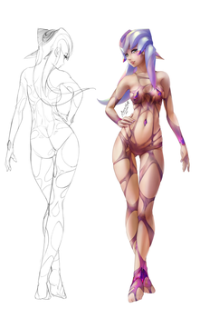 WIP: The Wetsuit Girl by auruster