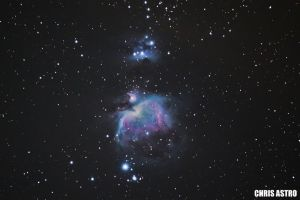 Orion Nebula Messier 42(Wide Angle) by ChrisAstro102