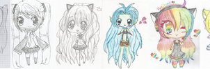 Chibi Change over the years!! by Chibii-chii