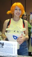 Misty and her Togepi by TheSapphireDragon1