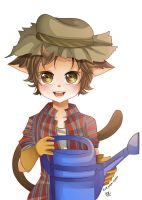 -- Commission for Shuichiboy: Farmer Cat Boy -- by Kurama-chan