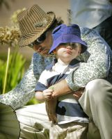 Dad and son by StephensPhotos