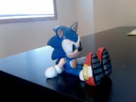 Sonic Clay figure-front by SonicBornAgain