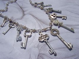 Necklace:Keys to Secret Cities by Bright-Circle