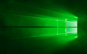 Windows 10 Wallpaper - Green by MrMooons