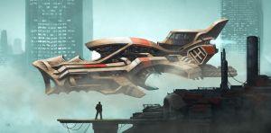 Spaceship Concept by KlausPillon