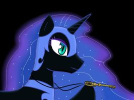 Nightmare Moon with Mann Co. key by LigerStorm