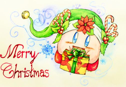 Merry Xmas from Kirby by WeirdCatInAHat