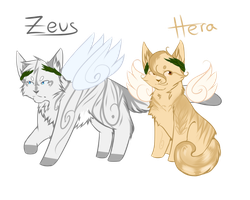 Zeus and Hera Feline Adopt :: OPEN :: by Love-Adopts