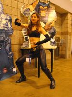 X-23 in front of Wolverine Standee by Etrigan423