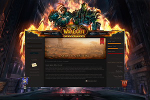 Web Design - World Of Warcraft by Shizoy
