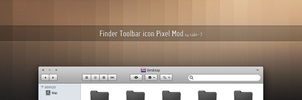 Finder Toolbar icon Pixel Mod by Side-7