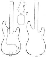 bass guitar plush pattern by starry-eyedkid