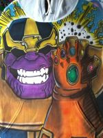 Thanos and the Infinity Hooded Sweatshirt by spidersnyd