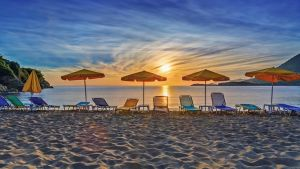 Dawn on the beach in Crete by fly10