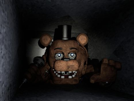 Withered Freddy In Vent by CoolioArt