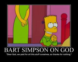 Bart Simpson on God by fiskefyren