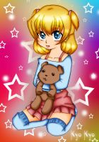 Girl and Bear by Kyo-Kyo-chan