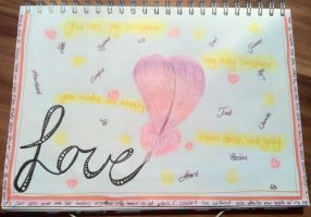 Art Journal Page -our love- by saphiraly