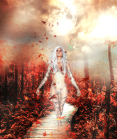 Into The Wood - photomanipulation by goldbiebs