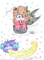 Annie shade christmas new years 2014 by Kittychan2005
