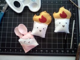 Felt Ornament/Cat Toy Prototypes by Twitchy-Kitty-Studio