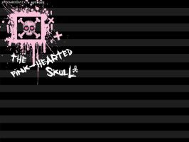the pink-hearted skull. by theSmallprint