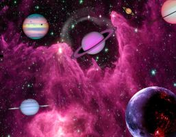 PLANETS BEYOND THE UNIVERSE by Aim4Beauty