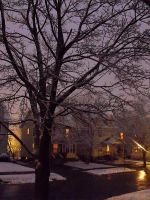 First Snow Fall of Winter by JohnnyNiffer