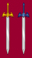 Sun Sword and Moon Sword by Great-Aether