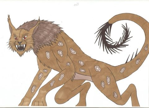 Child of Dragons - Manticore by Tyrannuss555