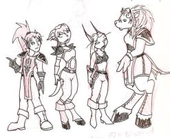 WoW Characters by Amkita
