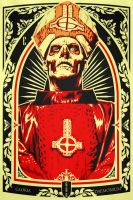 Sketch for future painting of Papa Emeritus by epyon5