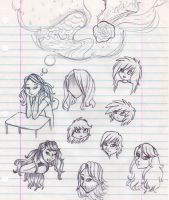 School Sketches by mashaheart