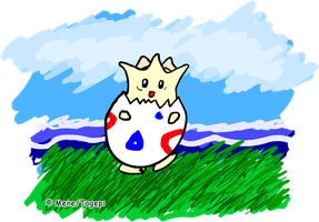 Togepi drawn with Tablet by mene