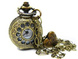 Brass Pocket Watch Necklace by pila12903