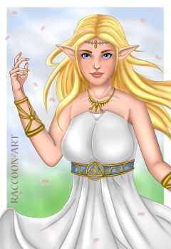 Princess Zelda by Raccoon-Art