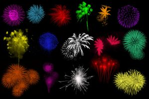 Brushes - Fireworks by Immrgy