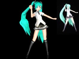 MMD DT rolling girl Miku by PiccolaGoccia