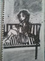Woman On Her Bench In The Middle Of Nowhere by Millie-Rose13