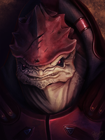 Mass Effect: Urdnot Wrex by ruthiebutt