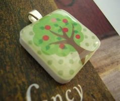 Apple Tree Pendant by luminarydreams