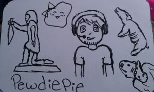 pewdiepie scribbles by lovepastatodeath